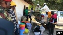 Des déplacés ayant fui les récentes attaques à Naunde, au nord du Mozambique, le 13 juin 2018.