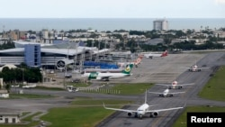 An aerial view of the International Airport of Recife, northeastern Brazil, April 6, 2014. Recife is one of the host cities for the 2014 World Cup.