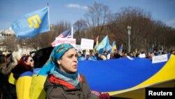 Демонстрация в поддержку Украины в Вашингтоне