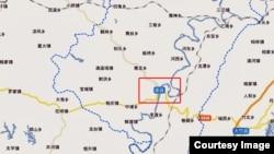 四川达州渠县地理位置 (百度地图)