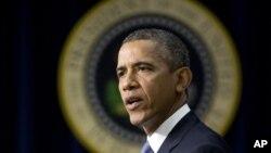 Tổng thống Obama phát biểu tại Tòa Bạch Ốc, ngày 16/9/2013.