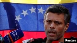 Venesuelanın müxalifət lideri Leopoldo Lopez