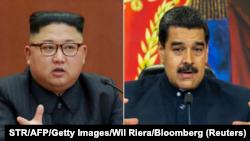 El líder norcoreano Kim jong Un y el presidente de Venezuela Nicolás Maduro.