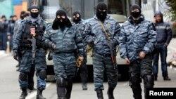 Бойцы подразделения «Беркут». Киев, 22 февраля 2014г.