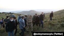 İçişleri Bakanı Süleyman Soylu kazanın olduğu bölgeye gitti.