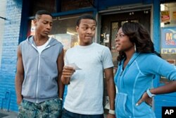 BRANDON T. JACKSON as Benny, BOW WOW as Kevin Carson and NATURI NAUGHTON as Stacie in Alcon Entertainment's comedy 'LOTTERY TICKET', a Warner Bros.