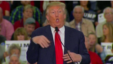 Presidential hopeful, Donald Trump, flails his arms Tuesday when speaking about a disabled New York Times reporter.