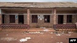 L'entrée de l'hôpital à Gambo, Centrafrique, le 16 août 2017.