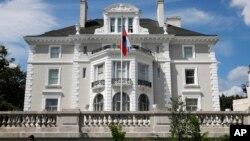 Salah satu gedung diplomatik Rusia di Washington DC yang diambil alih oleh pemerintah AS (foto: dok).