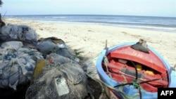 La plage à Sounine, en TUnisie, point de départ de nombreux migrants vers l'Europe (AFP)