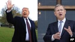 Rais Trump na jaji Roberts