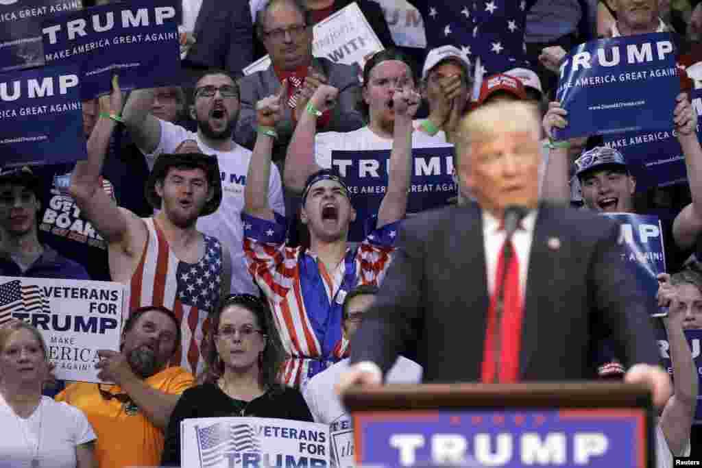 ترامپ در یک سخنرانی در پنسیلوانیا.