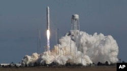 Orbital Sciences Corp.'s Antares rocket lifts off from the NASA facility on Wallops Island, Va., Sunday, Apr. 21, 2013.