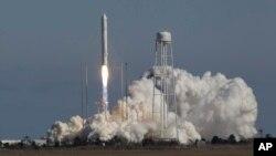 Orbital Sciences Corp.'s Antares rocket lifts off from the NASA facility on Wallops Island, Va., Sunday, Apr. 21, 2013.