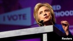 La candidate démocrate à la Maison-Banche Hillary Clinton donne un discours à Washington, le 10 juin 2016.