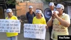 Thân nhân ông Nguyễn Trung Can phản đối vụ thu hồi đất