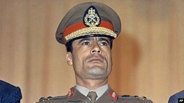 Moammar Gadhafi is shown at the Cairo Airport in Cairo, Egypt, 1970. (file photo)