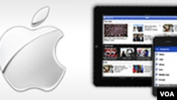 FILE - Apple icon (tablet, phone)