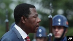 Benin President Thomas Boni Yayi, who is also chairman of the African Union, in Ankara, Turkey, July 9, 2012.
