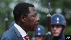 Benin President Thomas Boni Yayi, who is also chairman of the African Union, in Ankara, Turkey, July 9, 2012.