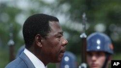 Shugaba Thomas Boni Yayi, na Benin wanda kuma har wayau shine shugaban kungiyar kasashen Afikra.