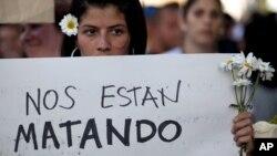 La inseguridad personal fue uno de los detonantes de las protestas que se registraron en 2104 contra el gobierno de Maduro.