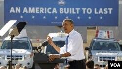 Presiden AS Barack Obama berbicara mengenai reformasi energi Amerika dan penggunaan LNG di Las Vegas, Nevada (26/1).