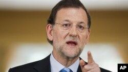 Премьер-министр Испании Мариано Рахой. Мадрид. 10 июня 2012 г.