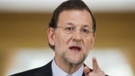 Spain's Prime Minister Mariano Rajoy speaks during a press conference at the Moncloa Palace, in Madrid, June 10, 2012.