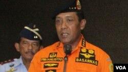 Ketua Basarnas FHB Soelistyo di Kantor Basarnas, Minggu (28/12).