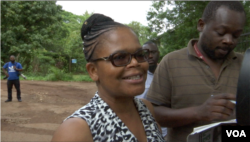 Beatrice Mtetwa from Zimbabwe Lawyers for Human Rights is representing pastor and political activist Evan Mawarire who is facing allegations of inciting citizens to protest violently. (C Mavhunga/VOA)