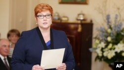 Bộ trưởng Quốc phòng Australia Marise Payne.