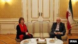 محمدجواد ظریف وزیر امور خارجه ایران و کاترین اشتون مسئول سیاست خارجی اتحادیه اروپا