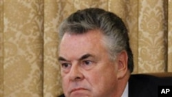 Rep. Peter King, R-N.Y., chairman of the House Homeland Security Committee, listens during hearings on Islamic radicalization in America, March 10, 2011.