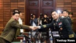 6月14日南北韓軍方高層領導人會晤。