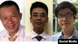 Ba nhà hoạt động Vũ Quang Thuận, Nguyễn Văn Điển, Trần Hoàng Phúc