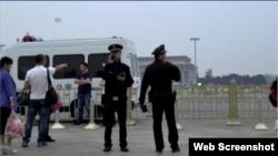 六四日北京天安门广场上当局部署的警力