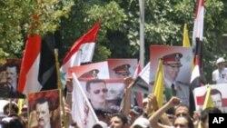 Abantu Bashigikiye Prezida wa Syria, Bashar al-Assad
