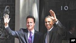 Firai Ministan Birtaniya David Cameron da shugaban Amurka Barack Obama