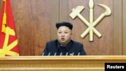 北韓最高領導人金正恩發表新年講話(2015年1月1日)