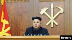 朝鲜领导人金正恩发表元旦讲话。(资料照)