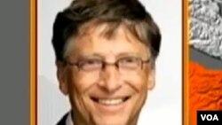 Bill Gates, hamshakin attajiri Ba'Amarike wanda ya bada gudummawar dala miliyan daya wa 'yan gudun hijira a arewa mmaso gabashin Najeriya yake kuma yaki da cutar Polio