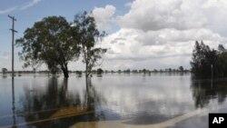 澳大利亞暴雨引發破壞力極強的洪水
