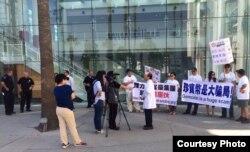 示威代表刘因全接受采访(示威者提供)