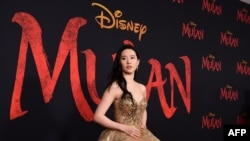 "Chinese-American actress Liu Yifei attends the world premiere of Disney's ""Mulan."""