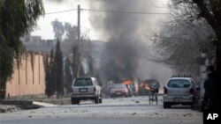 این حمله انتحاری در نزدیک یک کمپنی خارجی در حوزه نهم امنیتی کابل رخ داده است.