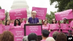 Planned Parenthood President Cecile Richards at a rally last year to defend the organization from charges it was selling fetal material. (AP)