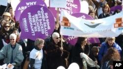 Jedan od skupova povodom Međunarodnog dana žena, u Londonu, 8. ožujka 2011.