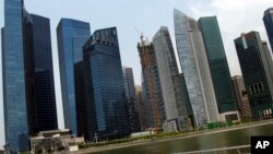 FILE - Singapore's financial district
