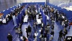 Một hội chợ tìm việc làm tại đại học American University ở Washington